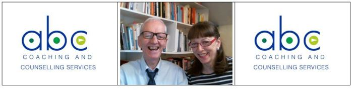 Dr Jim Byrne and Renata Taylor-Byrne in their office space