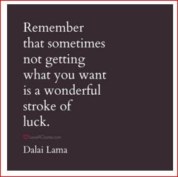 Dali Lama on frustrations