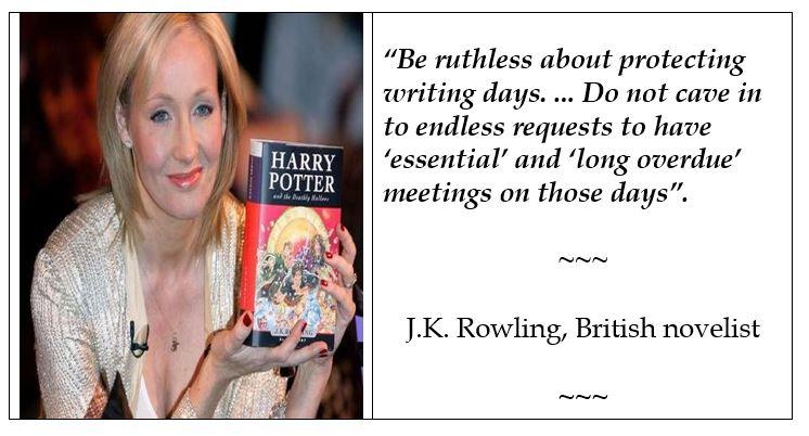 J.K. Rowling on writing
