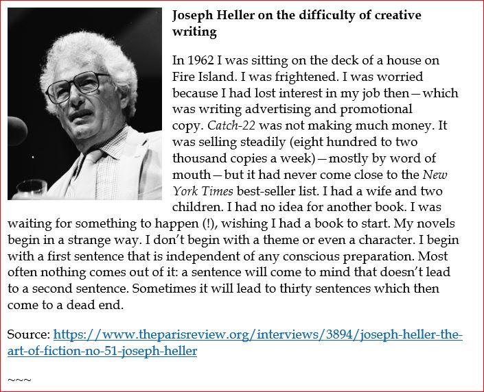Joseph Heller on the art of writing