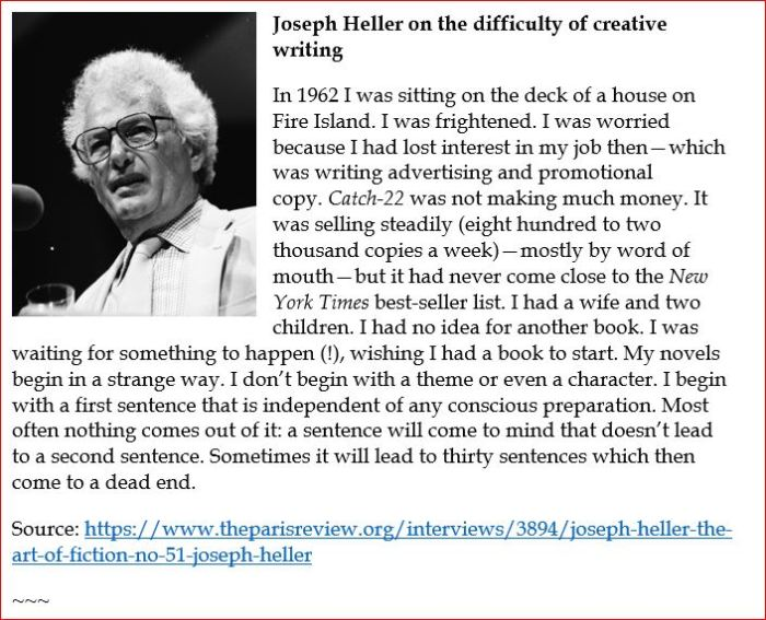 Joseph Heller on the art of writing