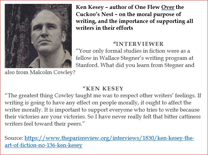 Ken Kesey on the art of writing