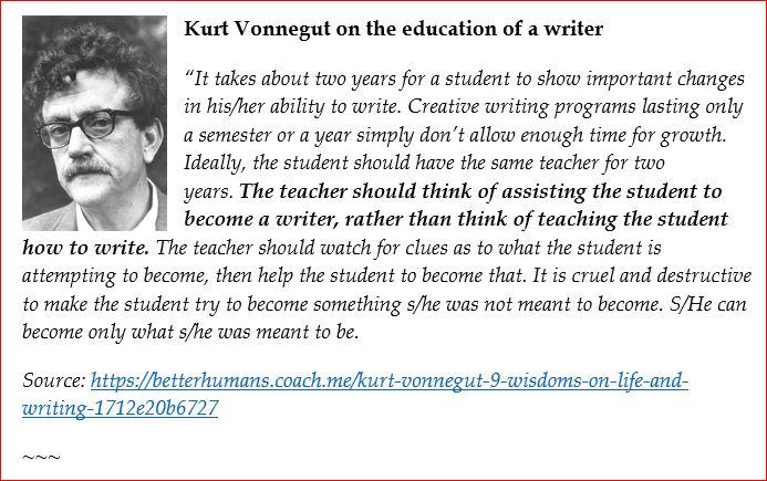 Kurt_Vonnegut on the art of writing 2