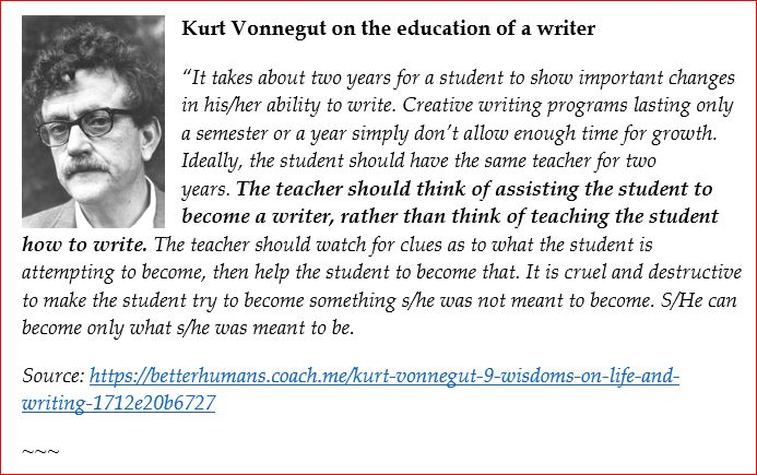 Kurt_Vonnegut on the art of writing 2