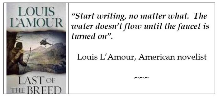 Louis L'Amour on writing