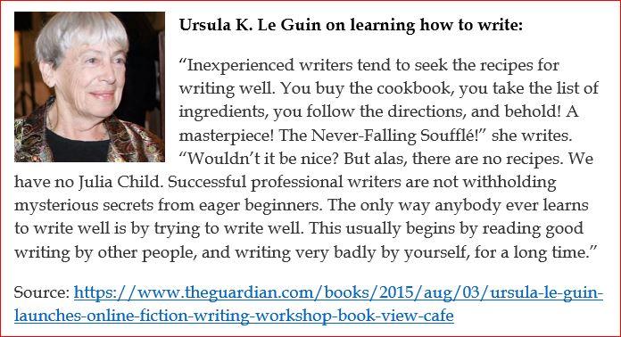 Ursula Le Guin on the art of writing2
