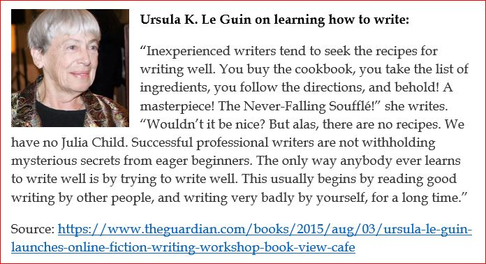 Ursula Le Guin on the art of writing2