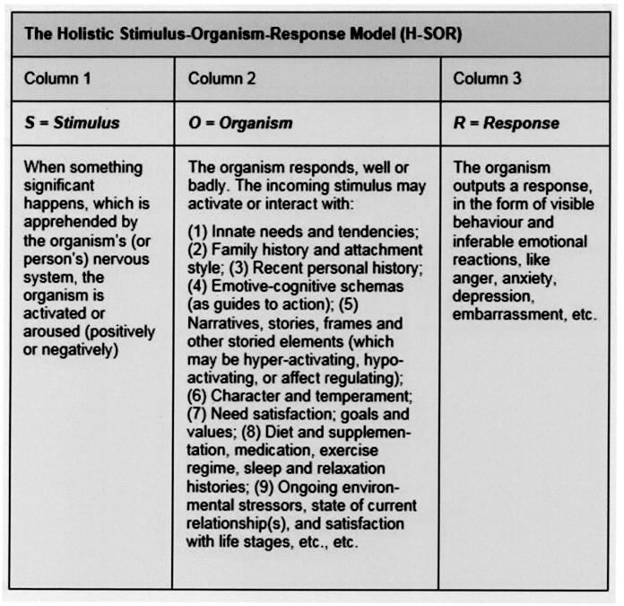 Holistic SOR model