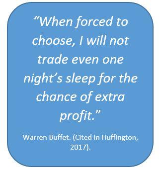 Warren Buffet on sleep