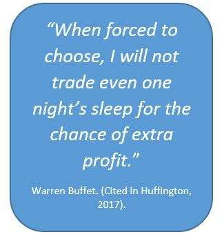 Warren Buffet on sleep
