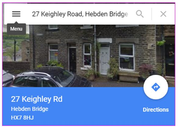 Google map of our home