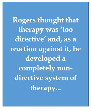 Rogers reason for non-directive counselling