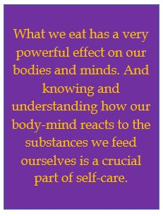 Food affects our body and mind