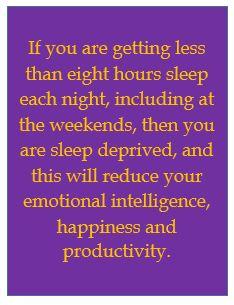 Sleep and personal misery