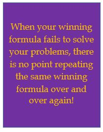 Winning formula producing failure