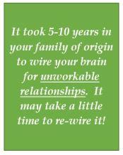 Rewiring brain for happy relationships