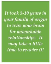 Rewiring brain for happy relationships