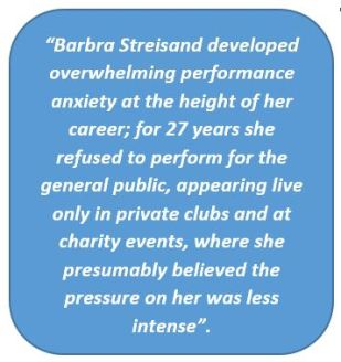 Barbara Streisand, Stage Fright
