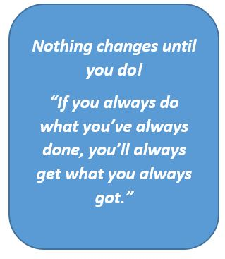 NLP quote, you change, it changes