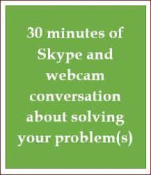 30 minutes of Skype counselling