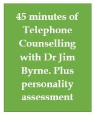 45 mins of telephone counselling plus personality assessment