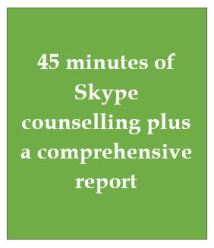 45 mins Skype couns plus a report