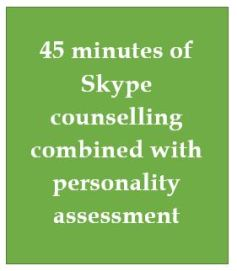 45 minutes Skype Counselling personality adaptations