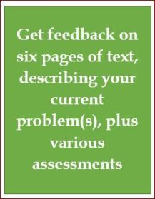 Email counselling, six pages, plus various assessments