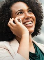 Telephone counselling client