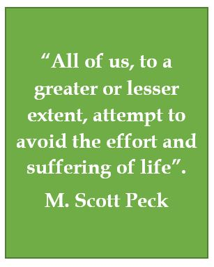 Denial of suffering, Scott Peck