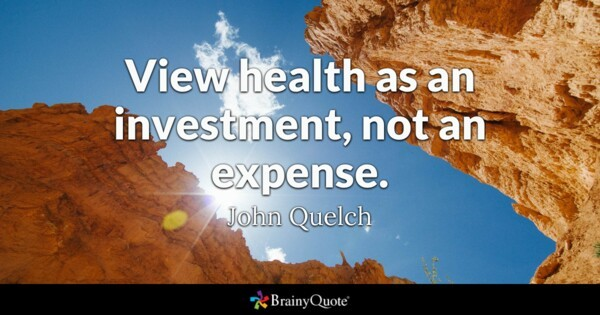 Invest in your health, it's your wealth