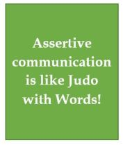 Assertive word judo
