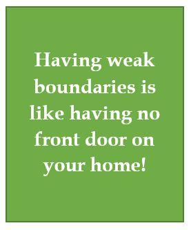 Assertivenss and weak boundaries