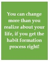 Habits can be changed