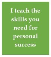 Personal effectiveness teaching and coaching